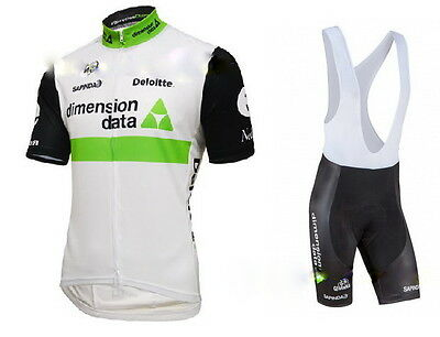 HOT! 2016 race design cycling suit (jersey and bib shorts). Labelled size MEDIUM