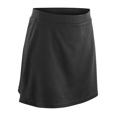 Spiro Girls Skort - Hockey Tennis Netball Sports Skirts (S261J) Small Black