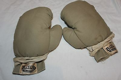 Antique vintage Baily's Glastonbury boxing gloves childs fabric 50s