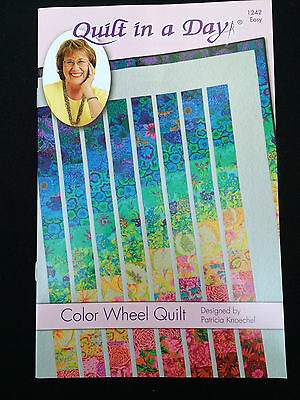 Eleanor Burns Quilt In A Day Color Wheel Quilt Five Sizes Pattern From Usa