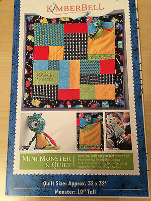 Mini Monster Quilt And Toy Pattern By Kimberbell Usa