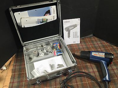 Steinel HL2010E Electronic Heat Gun Set In Case Used One Job Excellent Bundle