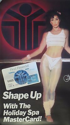 """Cher Shape Up with the Holiday Spa Master Card 19"""" x 30"""" New Poster-March 1988"""