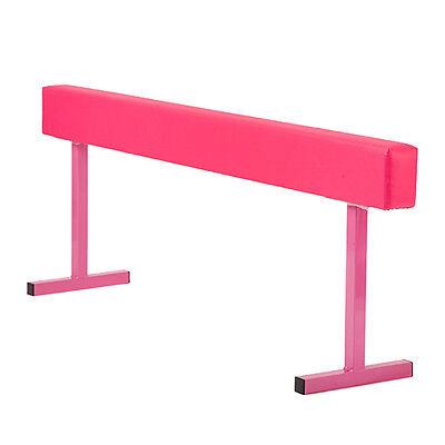 "Pink 24"" Faux Leather High Gymnastics Balance Beam Home Gym Training Equipment"
