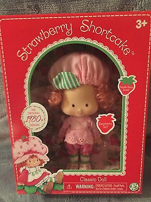 "STRAWBERRY SHORTCAKE RASPBERRY TART 6"" DOLL 1980's CLASSIC COLLECTION NIB"