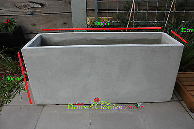 Garden Pots: BATCH OF 8 x 100cm Long Light Weight Concrete Planter Box