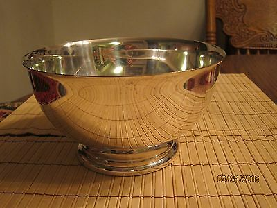 """Sheridan Silverplate Bowl; silver plate 8"""" x 4.25"""" with Crown & Shield Mark"""