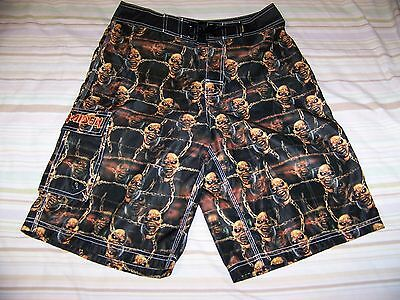 BRAND NEW Iron Maiden PIECE OF MIND Dragonfly Swim Suit Trunks Board Shorts 29