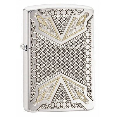 Zippo Armor Dagger Brushed Chrome Regular Lighter  Brand New