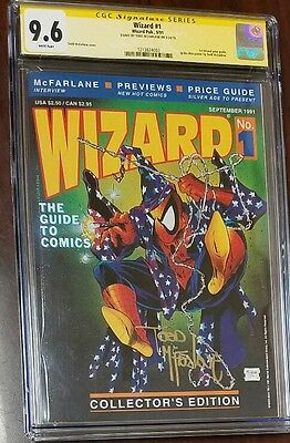 WIZARD the Guide to Comics #1 1991 Todd McFarlane Spider-Man Cover CGC 9.6 SS