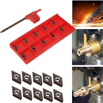 10pcs DCMT0702 EM YBC205 Carbide Inserts for Lathe Carbide Cutter Turning Tool
