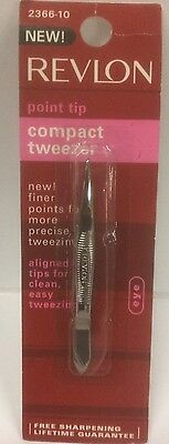 Revlon Classic Tweezer, Pointed Tip 2366-01 - MADE IN USA - NEW AND SEALED
