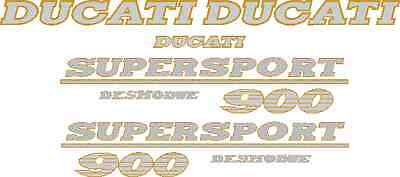 DUCATI SUPERSPORT 900 DESMODUE Decal Kit / Gold and Silver