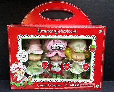 STRAWBERRY SHORTCAKE Classic 80'S RETRO Collection STRAWBERRY, LIME & LEMON NEW