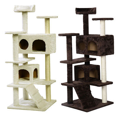 New Cat Tree Activity Centre Scratcher Scratching Post Pet Toys Play 37-180cm UK