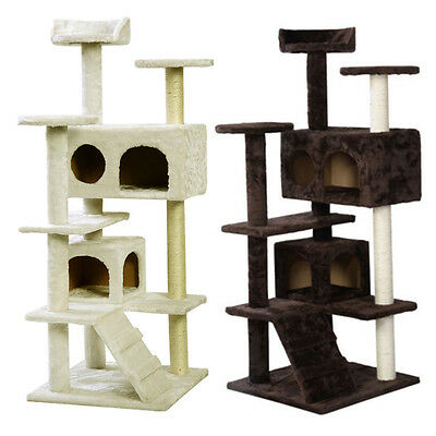 New Cat Tree Activity Centre Scratcher Scratching Post Pet Toys Play 73-180cm UK