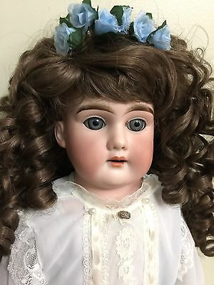 """Antique Doll HW & Co A M 5 German Bisque On A Kid Body 21"""""""