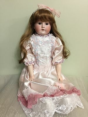 """Antique Doll Armand Marseilles ' Mabel ' Bisque On A Kid Body 27"""""""