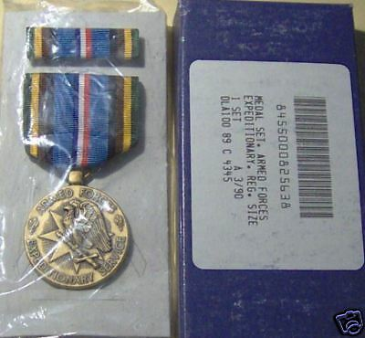 Armed Forces Expeditionary Medal GI Issue Set in BOX