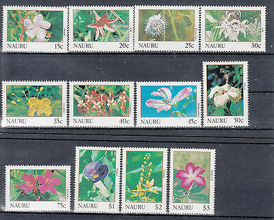 Nauru:1991 Flowers:Orchids set of 12 stamps.Sg391-402. MUH/MNH.Scarce and cheap