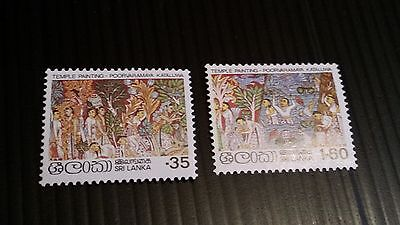 Sri Lanka 1980 Sg 697-698 Details From Temple Paintings Mnh