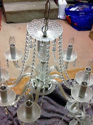 Chandelier Antique Crystal At £70 White Crystal