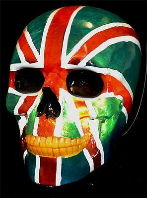 Nemesis Now UNION JACK FLAG NIGHT LIGHT / HUMAN SKULL LAMP Magic Wiccan