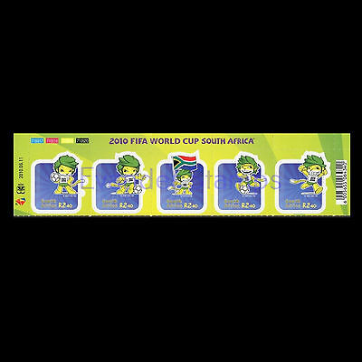 South Africa 2010 Football World Cup - South Africa Strip of 5. MNH