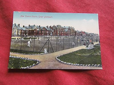 VINTAGE NORFOLK: GREAT YARMOUTH New tennis courts colour tint