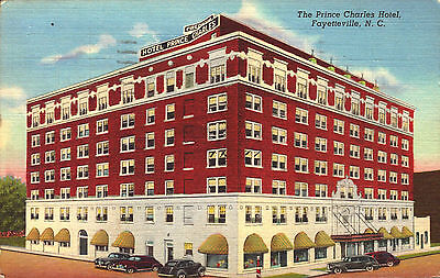 Postcard, Pc Prince Charles Hotel, Fayetteville, North Carolina