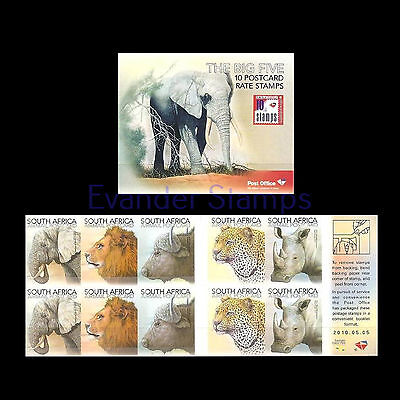 South Africa 2010 Big 5 Booklet. MNH