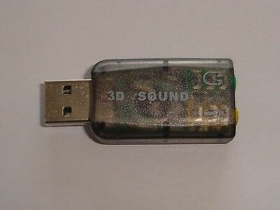 USB External Virtual 5.1 3D Channel Audio Sound Card Adapter