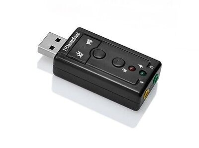 USB External Virtual 7.1 3D Channel Audio Sound Card Adapter