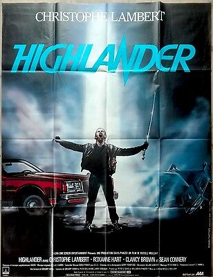 1986 HIGHLANDER Christopher Lambert Sean Connery French 47x63 movie poster