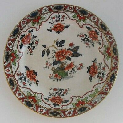 Japonica, Burleigh, Mint, Gilded, Polychrome Plate