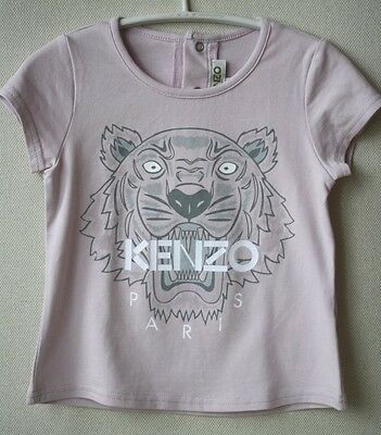 Kenzo Baby Pink Tiger Top Tee T-Shirt 2 Years