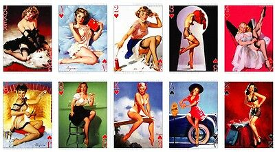 1 Deck Poker Sexy Lady  Pin-Up Girls Elvgren 54pcs Playing Cards