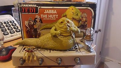 Vintage Star Wars Jabba The Hutt Boxed Rotj 1983 Excellent Condition & Complete