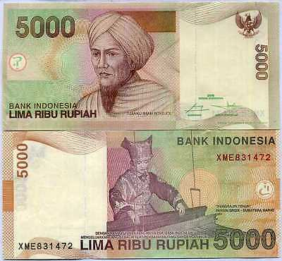 Indonesia 5,000 5000 Rupiah 2016 P 142 X Replacement Unc