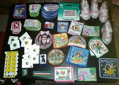 Girl scout badges 84 total, 10 stars, 4 keychains and some backings