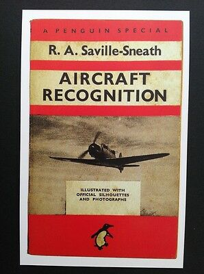 POSTCARDS FROM PENGUIN - AIRCRAFT RECOGNITION by Saville-Sneath - Cover Postcard