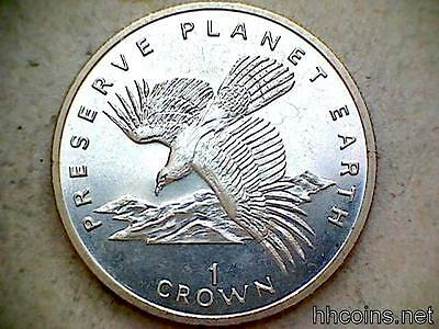 Gibraltar 1994 Crown, Preserve Planet Earth Serie, Spanish Imperial Eagle, Unc