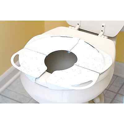 Toddler Kid Portable Folding Travel Potty Training Toilet Seat Handles New . .