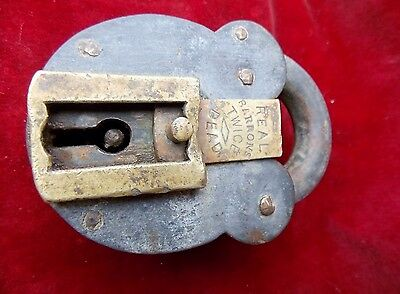 Rare Huge Antique Old British Made BARRON'S  Pad lock Collectible