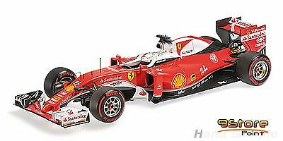 BBR 181625 1/18 F1 FERRARI SF16-H WITH DRS S. VETTEL 3rd ITALY GP 2016 PREORDER