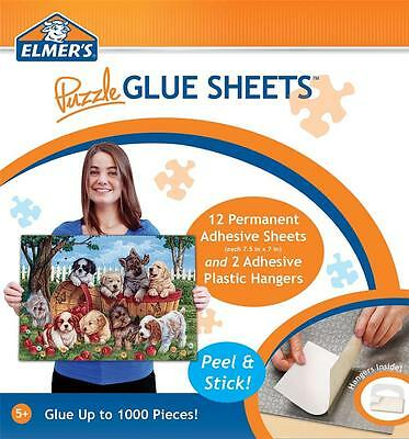 Masterpieces Elmer's Puzzle Glue Sheets Jigsaw Puzzle Adhesive - Set Of 3!