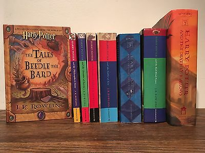 Harry Potter Complete Set 1 2 3 4 5 6 7 Beedle The Bard J K Rowling