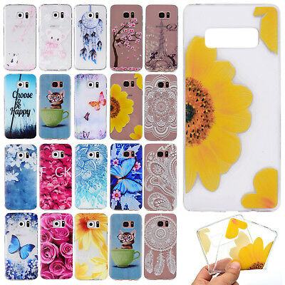 Fashion Protective Slim Silicone TPU Soft Case Cover For Samsung Galaxy Phones
