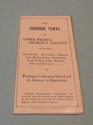 1926 Hyattsville Maryland Travel Brochure Upper Prince Georges County Photos Map