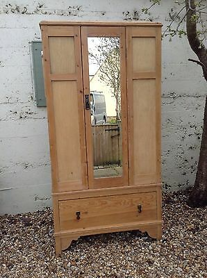 Antique Victorian Pine Wardrobe